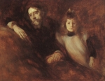 Alphonse-Daudet et sa fille Edmee