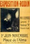 Affiche pour l'exposition Rodin au Pavillon de l'Alma en 1900